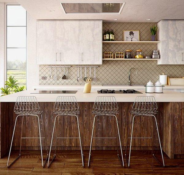Minimalistic beige interior decor