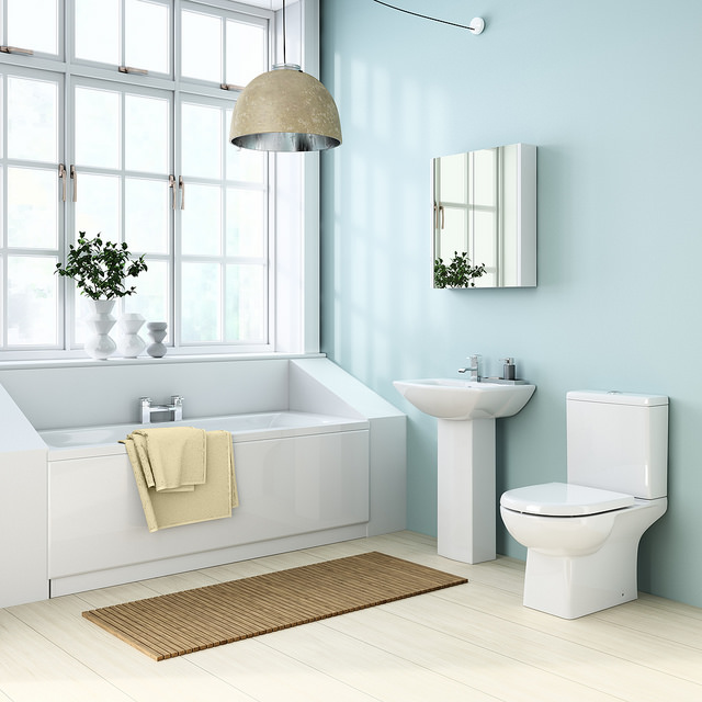 White bathroom decor