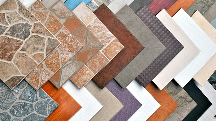 The bunch of ceramic tiles for example.