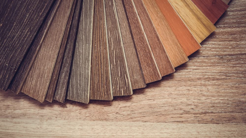 Different examples of hardwood floors.