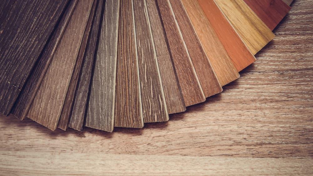 Different examples of hardwood floors.