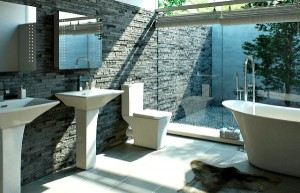 Modern bathroom lux design