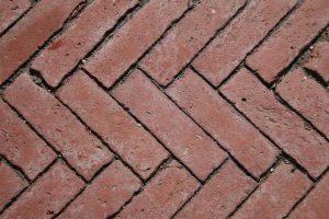 Bricks as driveway.