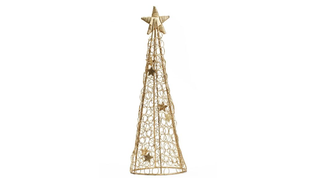 Wire christmas tree.