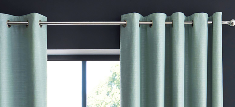 Eyelet panel curtains