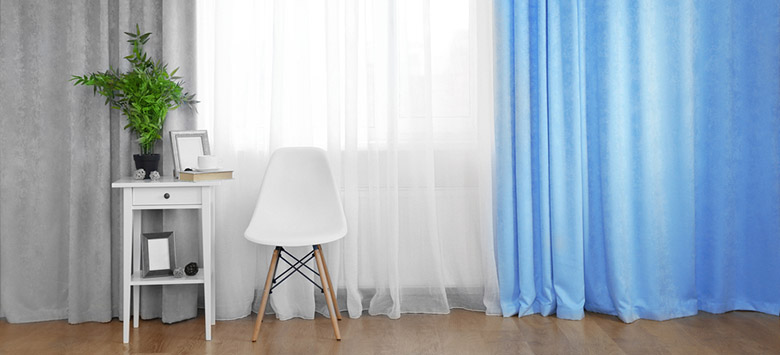 Flat panel curtains