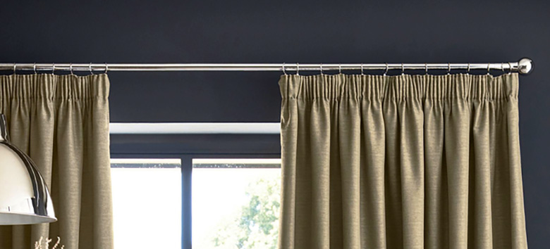 Pleated panel curtains
