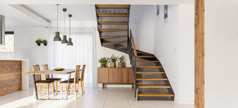 Staircase in luxury home