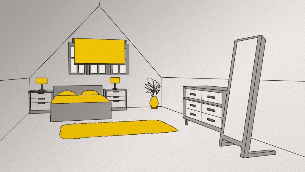 Make your attic a guest bedroom.