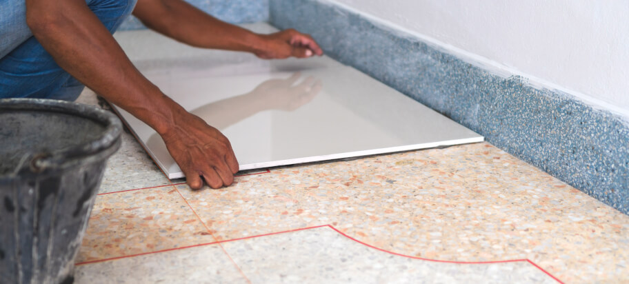 How to tile over tiles